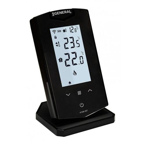 General Life HT500 Set Black Θερμοστάτης Smart με Οθόνη Αφής