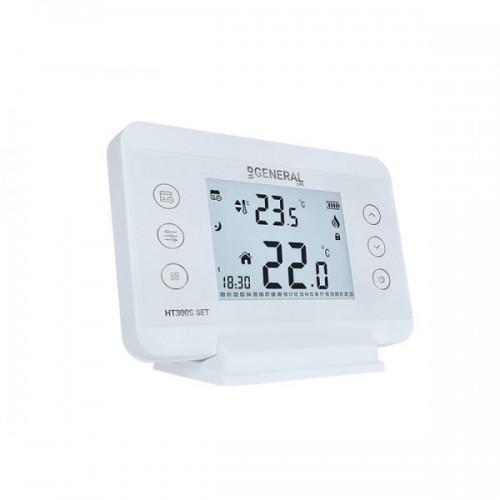 Ασύρματος θερμοστάτης χώρου ηλεκτρονικός  GENERAL HT 300S SET
